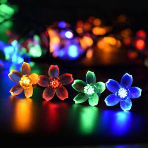 50-LED-Solar-Fairy-String-Lights-Garden-Tree-Beads-Blossom-Lamp-Decor-Outdoor-US