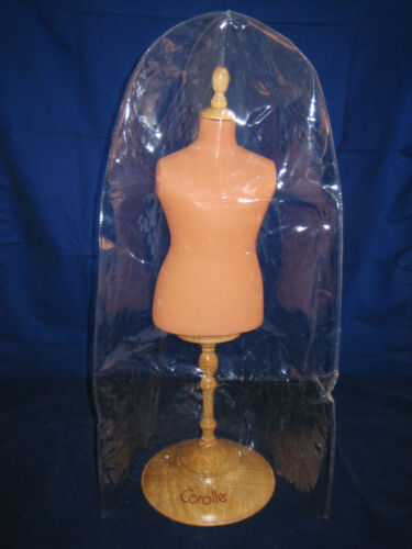 """COROLLE DOLL 1991 18/"""" Dress Form Stand with Round Wood Base VINTAGE ~ NEW"""