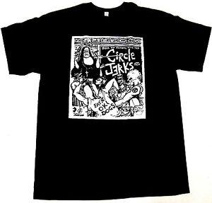 CIRCLE-JERKS-T-shirt-Hardcore-Punk-Rock-Tee-Men-S-M-L-XL-2XL-Black-New