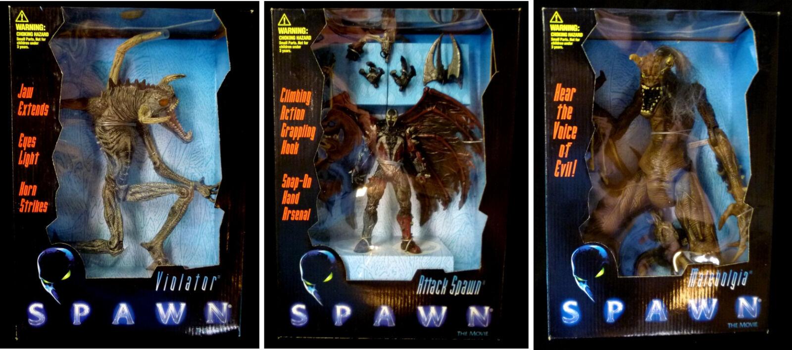 Mcfarlane spielzeug brut film deluxe boxed action - figur hat 3 neue von 1997