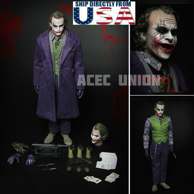 1/6 Joker Heath Ledger BATMAN THE DARK KNIGHT Figure Complete Set USA PRE-ORDER