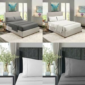 100-Algodon-Egipcio-30CM-extra-profundo-500TC-bed-sheet-single-Double-Super-Rey