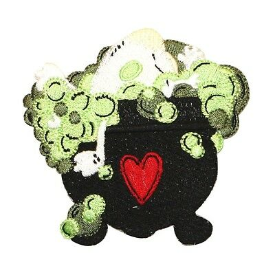 ID 0895 Bubbling Cauldron Patch Witch Brew Halloween Embroidered IronOn Applique