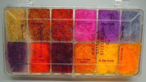 Poul Jorgensen Dubbing Dispenser 12 Farben-Box SALMON /& STEELHEAD #2