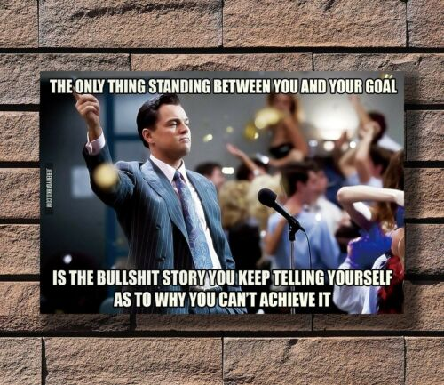 The Wolf Of Wall Street Movie Dicaprio Motivational Poster Fabric 30 24x36 E-321