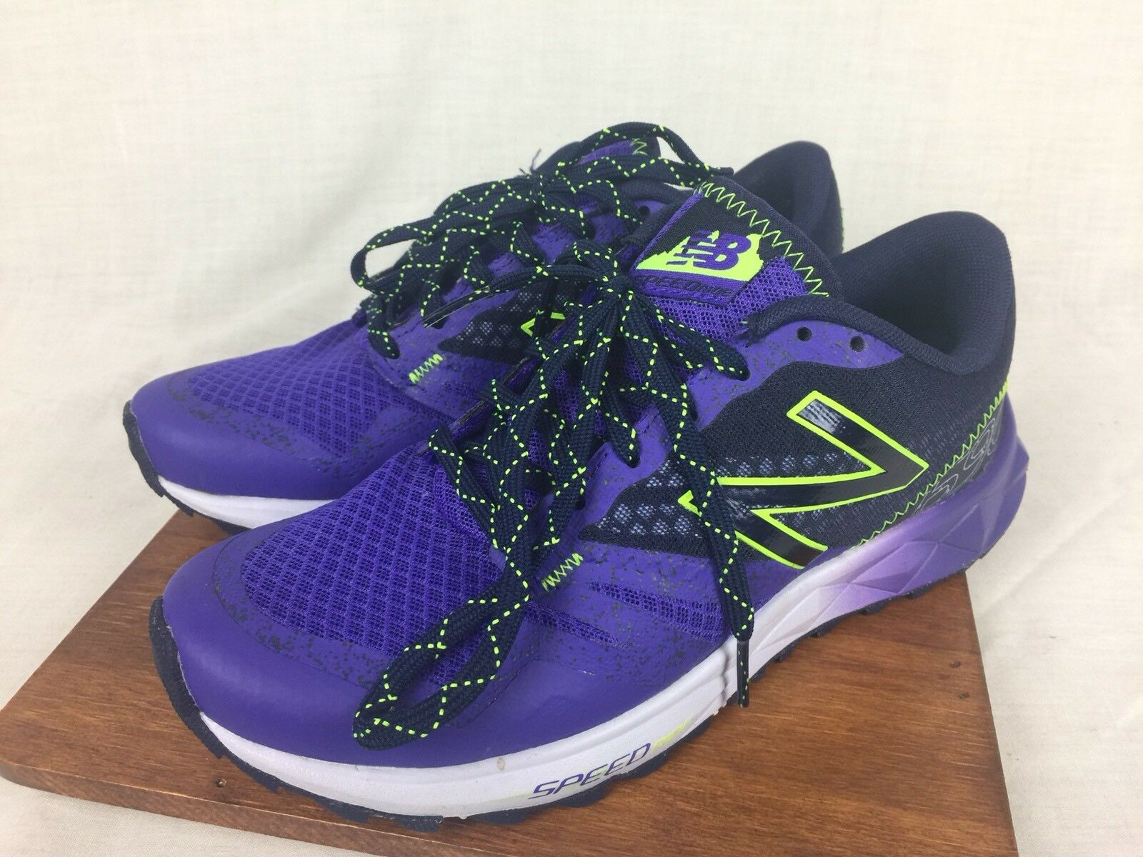 New Balance 690 At Speed Ride Womens Athletic Running shoes Green Purple 6.5