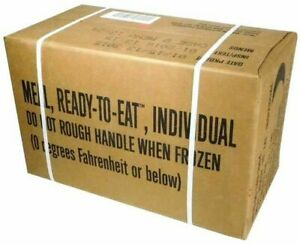 MRE Ready-to-Eat Military Surplus INSPECT DATE 2021 MEAL PLAN B