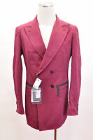 $1260 Alexander Mcqueen Double Breasted Red Coral Blazer Dress Jacket
