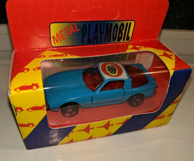 Vintage Scarce Metal Play Mobile Mazda Rx7 Fa Fb 1 64 Blue Made In