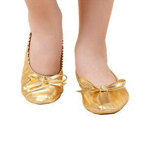 5eaf45abbd Dettagli su Scarpe da ballo color Oro, Similpelle, Danza del ventre,  Ballerine