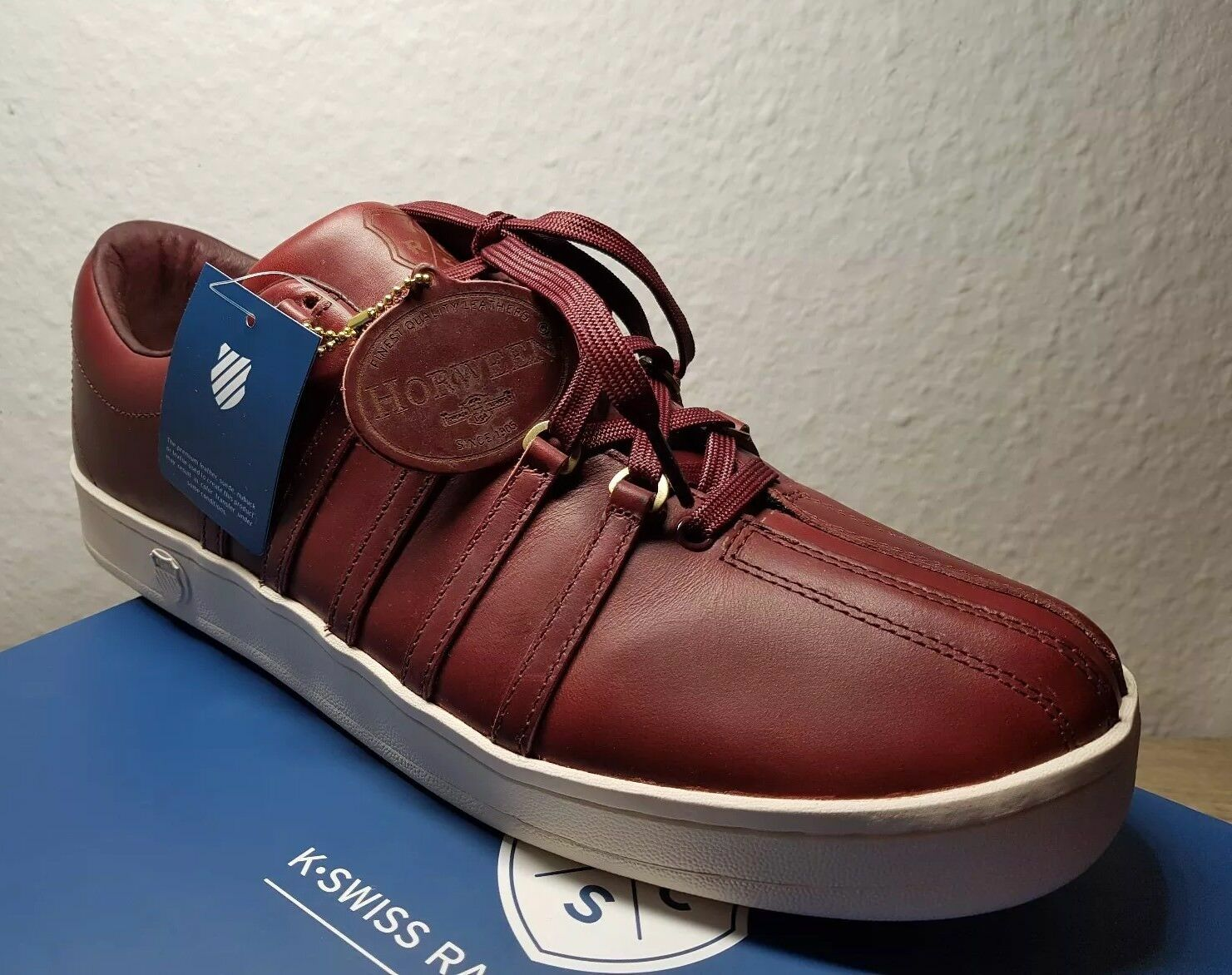 k.swiss classic 88 Horween blood red Herren Sneaker- 46