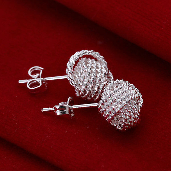 XMAS wholesale sterling solid sliver fashion modern charms earring SE411 + box