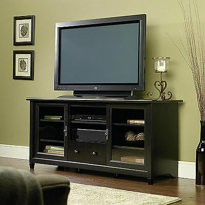 "Elegant 59"" TV Stand Media Entertainment Center Home Theater Wood Cabinet Black"