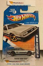 '81 Delorean DMC-12 #141 * Silver w/ FTE Rims * 2011 Hot Wheels * N189