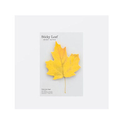 Sticky Leaf Office Post It Bookmark Marker Memo Sticky Notes sticker Maple Small