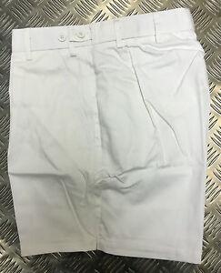 Genuine British MOD PTI Tri Service Shorts Mans White or Navy All Sizes - NEW