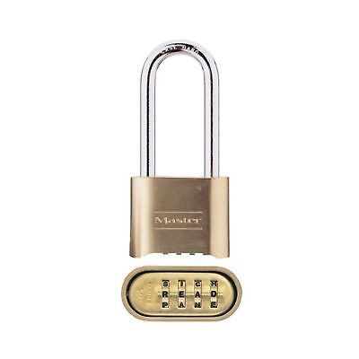Master Lock Padlock Wide 175DWD 2 in Set Your Own Word Combination Lock