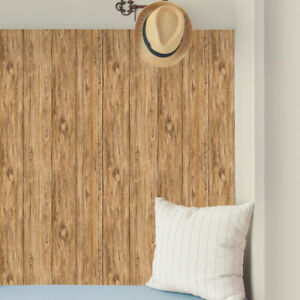 Image Is Loading Brown Mushroom Distressed Shiplap Wood Peel And Stick