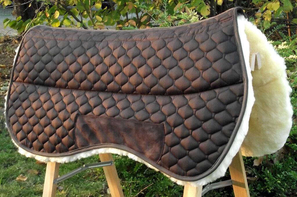 Top Western manta en auténtico, cordero sillín manta westernpad + opción de corrección