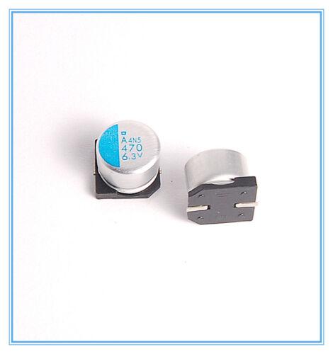 SMD Upgrade 4v 4pcs 470uf 6.3v NCC Polymer Capacitors 6.3v470uf