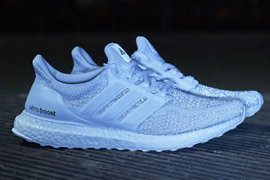 Details zu ADIDAS ULTRA BOOST TRIPLE WHITE REFLECTIVE PACK ALL SIZES 6 7 8 9 10 11 12 NEW