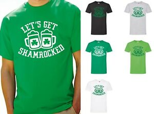 41ba8270 Let's Get Shamrocked B T-Shirt - Funny Irish St Patrick's Day Tee ...