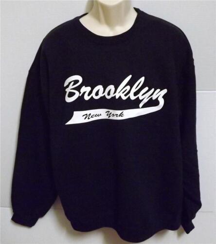BROOKLYN NEW YORK JERZEES CREW NECK SWEATSHIRT Many  Colors Avail SIZES SM-5XL
