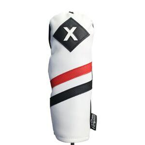 Majek-Retro-Golf-x-Bois-De-Fairway-Voile-Rouge-Blanc-Noir-Vintage-En-Cuir-Style