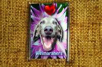 Weimaraner Gift Dog Fridge Magnet 77x51mm Free UK Postage Birthday Gift