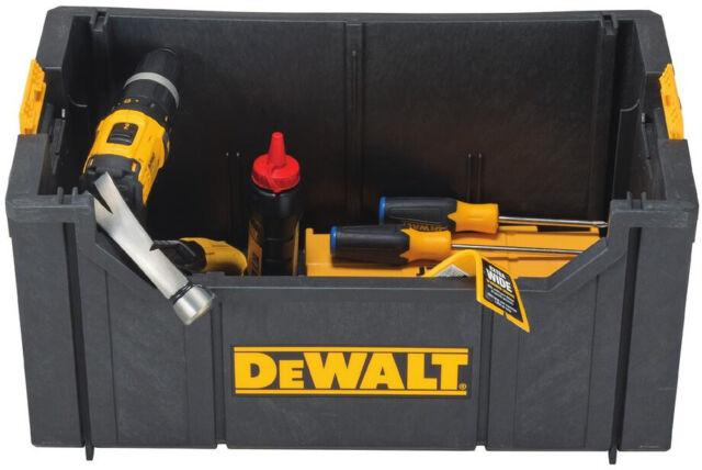DEWALT Tote Tool Box Storage Bin Parts Organizer Large Heavy Duty 22 in Garage