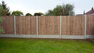Details about closeboard fence panel & concrete fence post and concrete  gravelboard