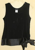 Citiknits Dressy Satin Banded Bottom Slinky Top Shell Sz M Made In The Usa