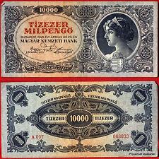 UN BILLET DE BANQUE HONGRIE CIRCULE   Pk N° 126 - 10000 Pengo Budapest 1946