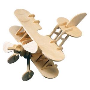 B 2 3D Holzbausatz Flugzeug Flieger Holz Steckpuzzle Holzpuzzle Kinder Bauen Puzzles & Geduldspiele
