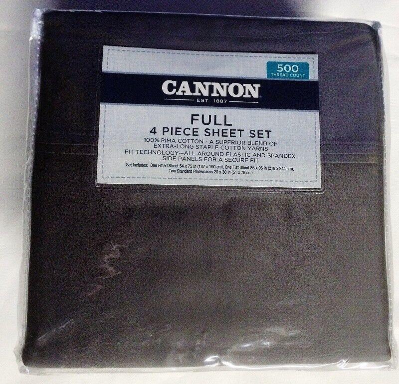 Smoked Pearl 100% Pima Cotton 500TC 21  Full CANNON Sheet Set Bedroom