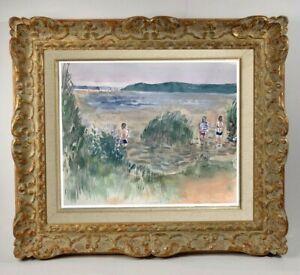 Maurice-genis-1925-2013-beach-scene-has-lacanau-Gironde-1950-70