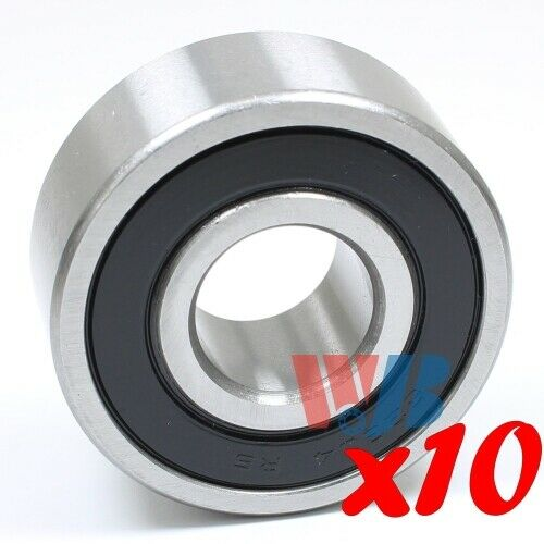 Set of 10 BALL BEARING WJB 62304-2RS CARTRIDGE TYPE WITH 2 RUBBER SEALS