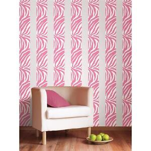 pink leopard print wallpaper for bedroom pink zebra print 16 removable vinyl sticker wall border 20766