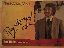 THE WICKER MAN: AUTOGRAPH CARD: ROY BOYD AS BROOME
