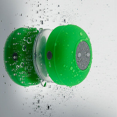 NEW Waterproof Wireless Bluetooth Speaker Handsfree Mic Suction Shower Mount