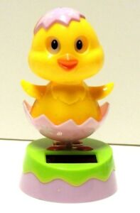 Set of 2 ~ Adorable ~ Who Is That Chick ~ Dancing Yellow Chick Solar Toy