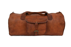 23-034-Leather-Travel-Duffel-Bag-Overnight-Luggage-Handbag-Sports-Gym-Holdall-Bags