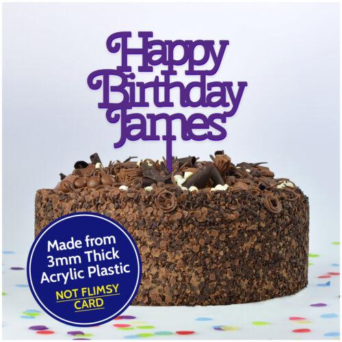 Happy Birthday Cake Topper Personalizado Decoración Personalizada Cualquier Nombre para él ella