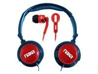 Naxa 2-in-1 Combo Super Bass Stereo Headphones & Earphones on Sale