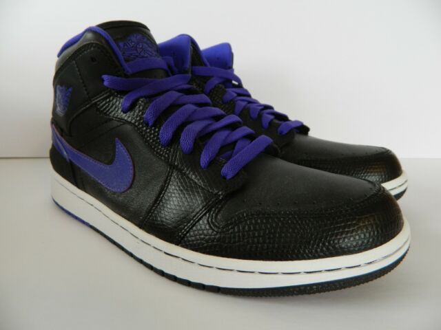 Nike Air Jordan 1 Retro 86 Mens Shoes 11 Black Dark Concord 644490 ... b153d99ae5964