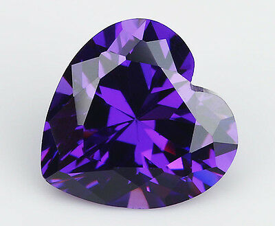 6X6mm AAAAA Purple Sapphire Gems 1.15ct Heart Faceted Cut VVS Loose Gemstone