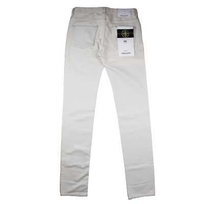 STONE ISLAND SK jeans attillati bianco