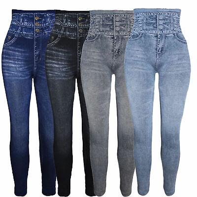 Hochbund Bauchweg corsage Leggings Miederhose Jeans Look Treggins 34 52 | eBay