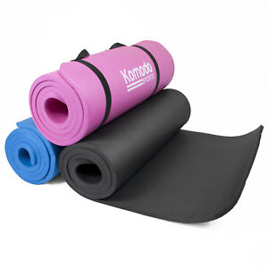 Komodo-YOGA-MAT-15mm-Thick-Roll-Up-Exercise-Workout-Gym-Pilates-Non-Slip-Padded