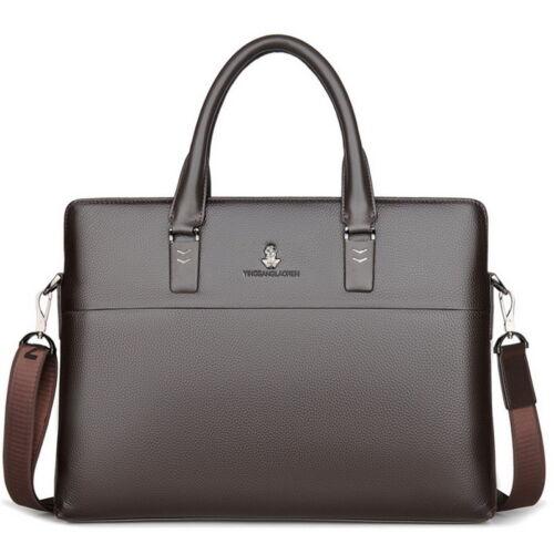 Men Business Travel Pack Leather Briefcase Laptop Bag Shoulder Work Bag Handbag